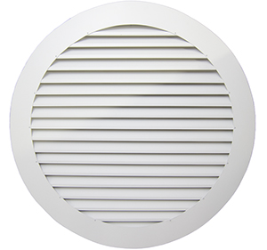 36 in aluminum commercial circle sidewall vent