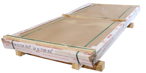 flat sheet stock packaged for shipping