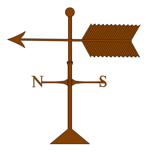 copper arrow banner weathervane old world distributors