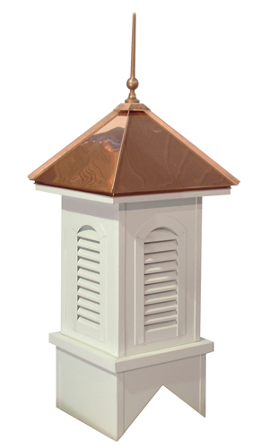 americana finial on cupola w/arched vent