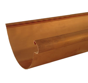Half Round copper gutter old world distributors