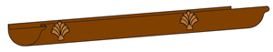half round shell gutter accessory old world distributors