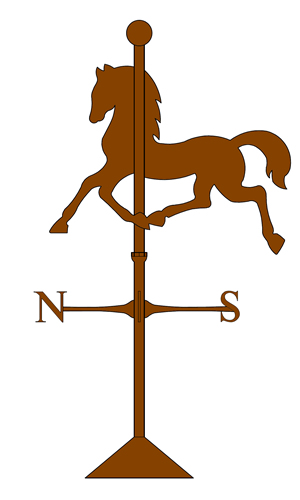 copper horse banner weathervane old world distributors