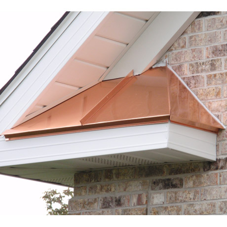 Copper Standing Seam Accents