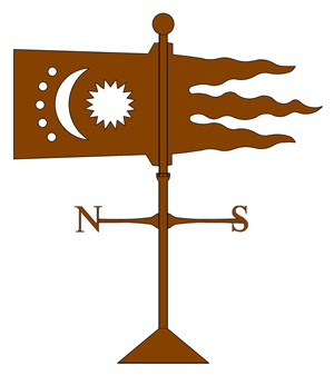 copper moon & stars banner weathervane old world distributors