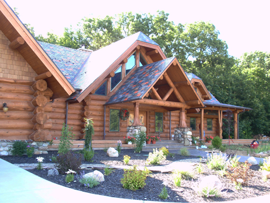 Log Home Gutters