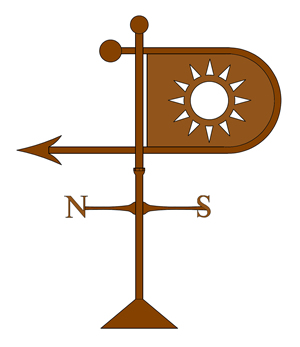 copper sun banner weathervane old world distributors