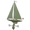 sailboat weathervane in patina copper