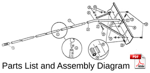 gaerlick snow rake parts and assembly diagram