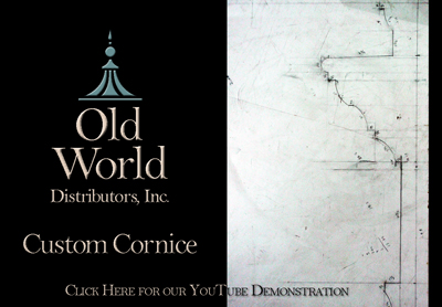custom cornice youtube video old world distributors